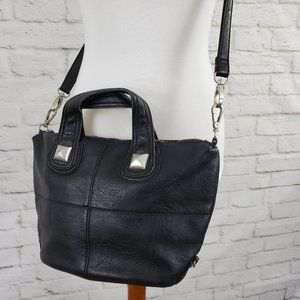 Free People Vintage Purse  Vegan Leather Bag Black